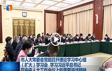 市人大常委会党组召开理论学习中心组(扩大)学习会